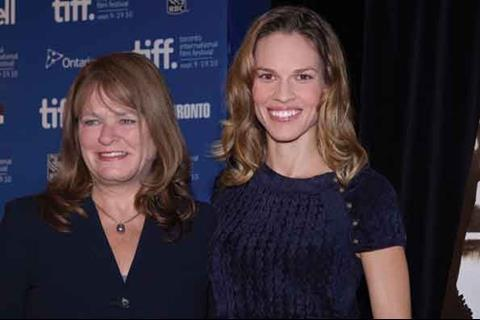 Hillary Swank (right) and Betty Anne Waters